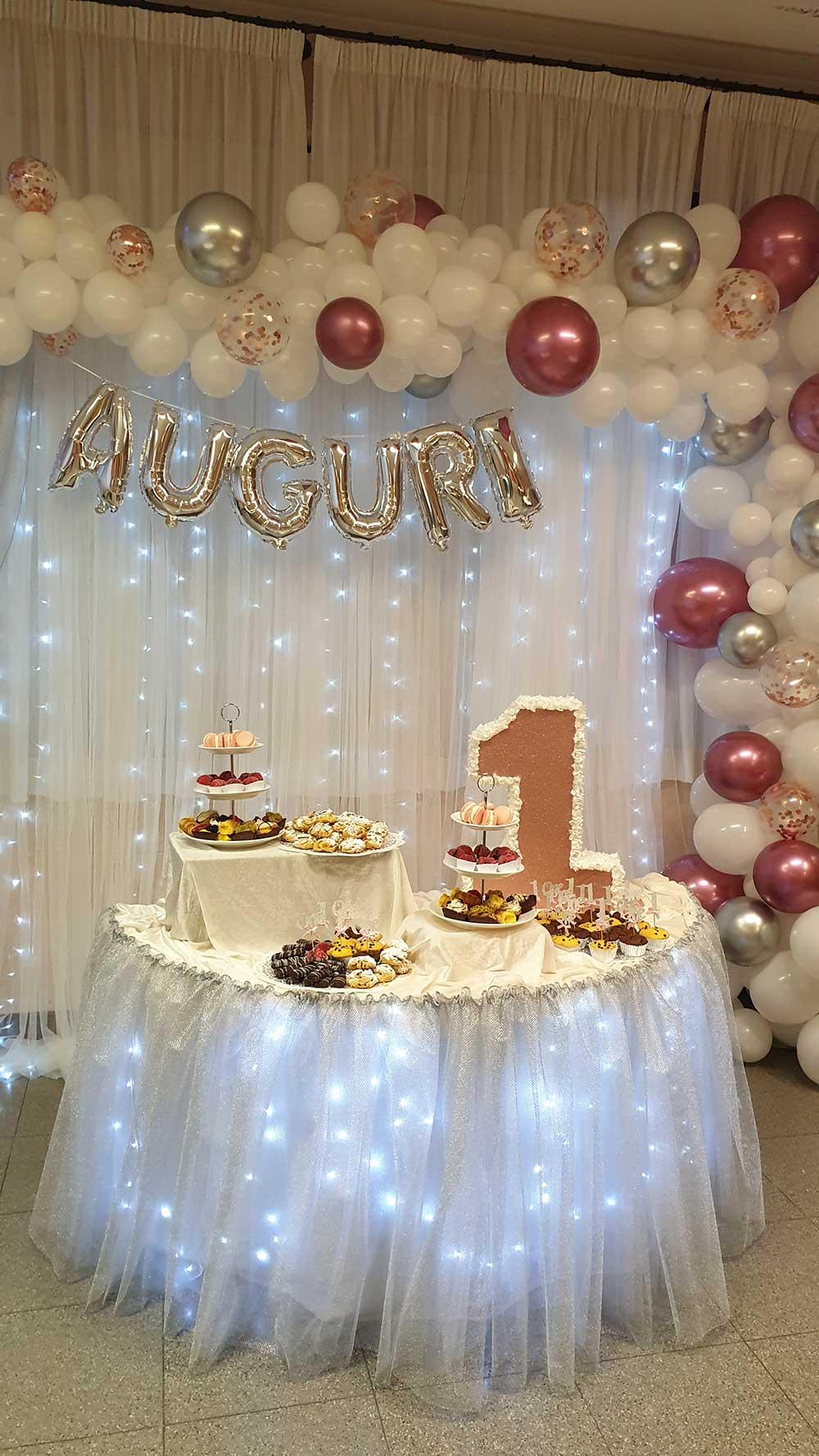 Buffet per torta festa 1 anno