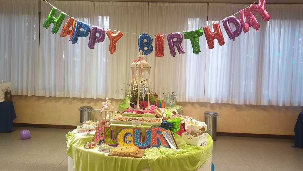 Buffet per festa di compleanno
